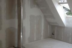 Nerezový komín v interiéru